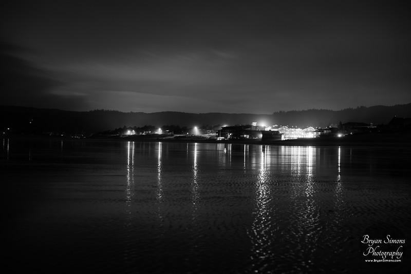 Cannon Beach at night
