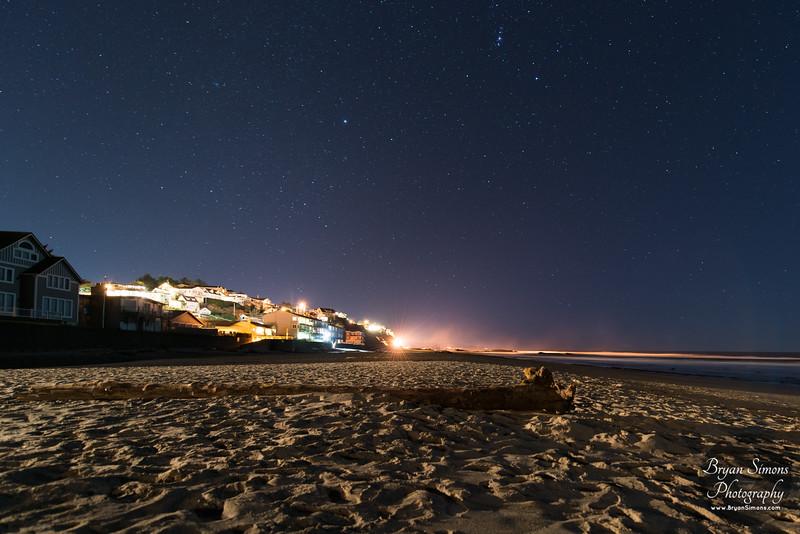 Lincoln City Beach at Night