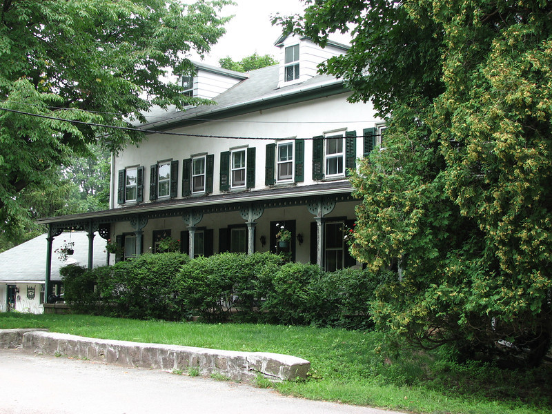 View of the front of the old Coates House, which served as the clubhouse of Meadow Brook Golf Club. The original structure has been enlarged over time.