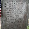 Inscription on Dr. Thacher's gravestone