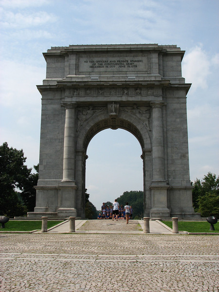 View of the arch in August 2009