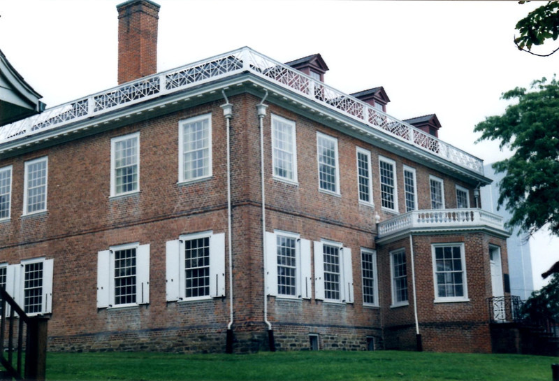 View of the front of the mansion