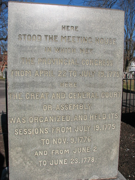 Inscription on the marker