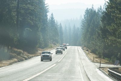 There were many areas of smoke that we drove through on the way to Yosemite.