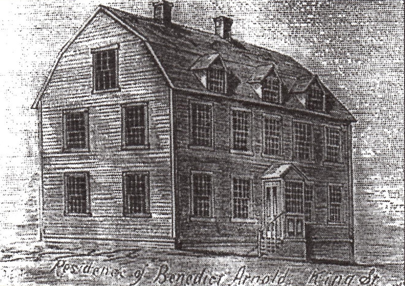 Drawing of the home of Benedict Arnold and his wife Peggy Shippen.
