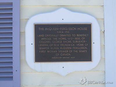 This is the plaque on the front of the house