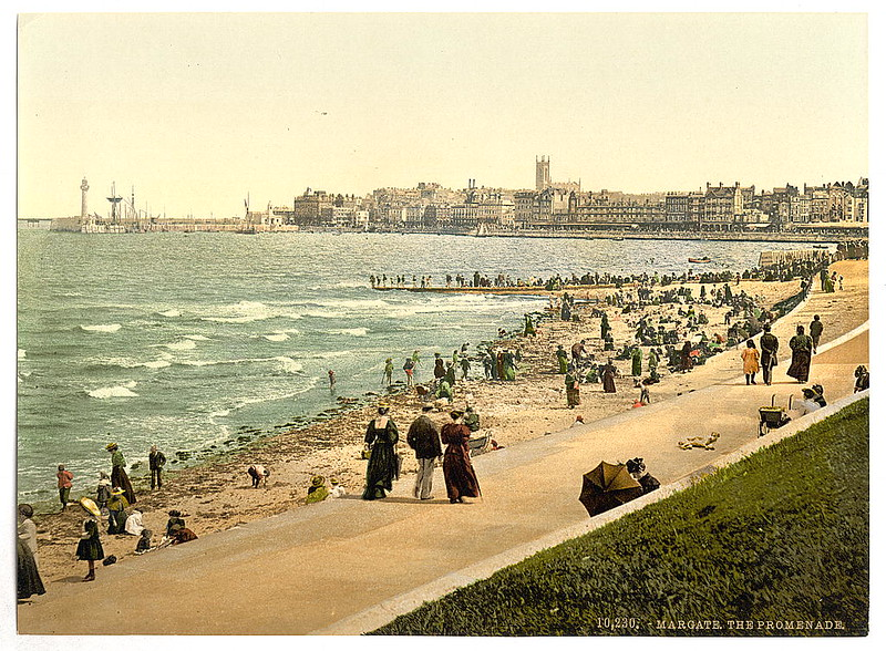 Old postcard view of Margate in the Victorian Era, nearly one hundred years after the Arnold visit