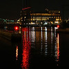 Providence power plant at night.