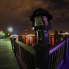 """I will title this photo: """"Torn"""" after the punk who tagged the broken lamp post here...ha...  Providence river boardwalk near south main street."""
