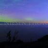 Sunrise and aurora at Hebard Park, Keweenaw County, Michigan