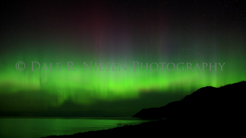 Sleeping Bear Aurora - Taken on May 8, 2016 at 12:58 am looking north from Esch Beach over Lake Michigan in the Sleeping Bear Dunes National Lakeshore.