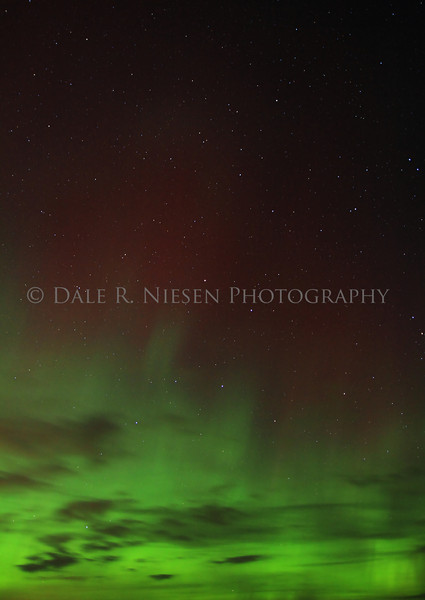 The Aurora in the sky above the Straits of Mackinac taken from Mackinaw City, Michigan on November 14, 2012.