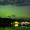 The aurora over the Copper Harbor Marina, Copper Harbor, Michigan