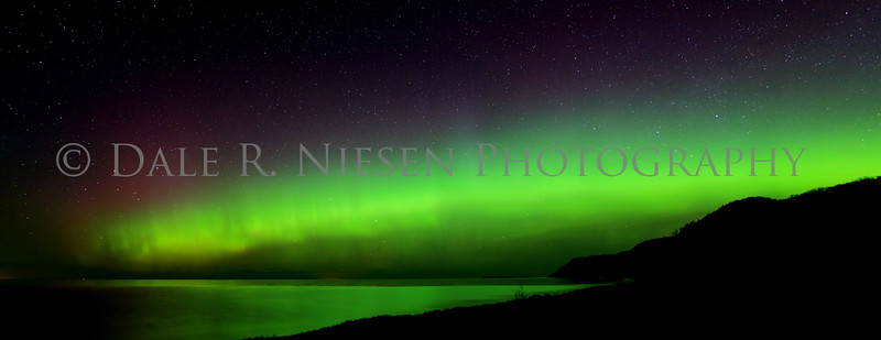 Sleeping Bear Aurora - Taken on May 8, 2016 at 12:47 am looking north toward the Empire Bluffs in the Sleeping Bear Dunes National Lakeshore.