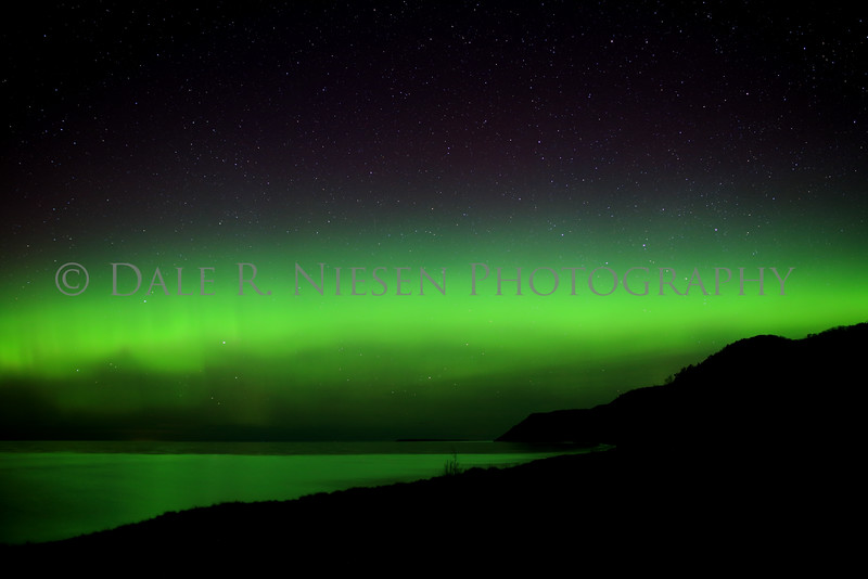 Sleeping Bear Aurora - Taken on May 8, 2016 at 12:45 am looking north toward the Empire Bluffs in the Sleeping Bear Dunes National Lakeshore.