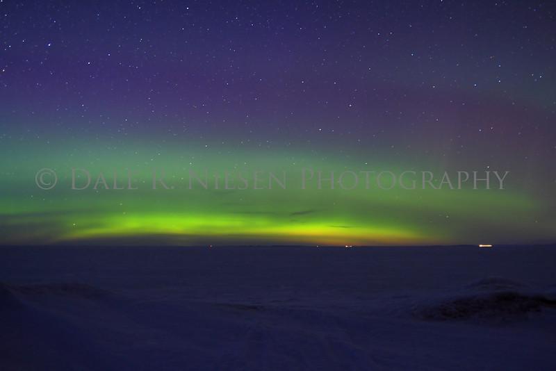 Northern Lights taken on Lake Superior's frozen Whitefish Bay, Chippewa County, Michigan 3/29/2013.