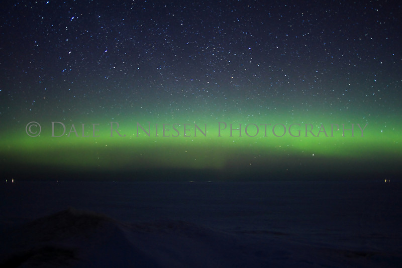 Northern Lights taken on Lake Superior's Whitefish Bay, Chippewa County, Michigan 3/29/2013.