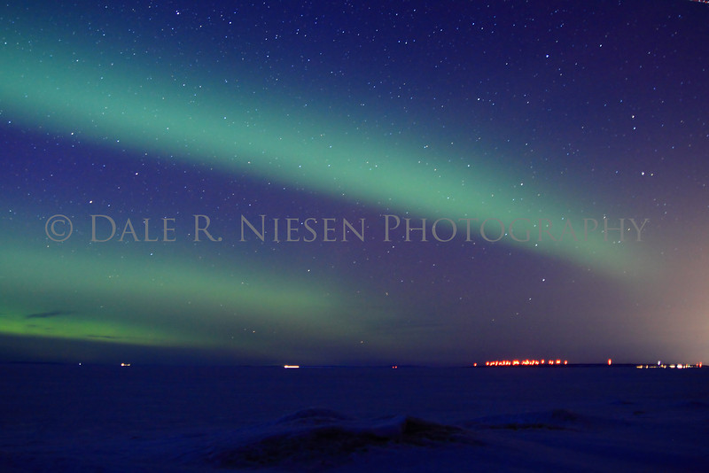 Northern Lights taken on Lake Superior's Whitefish Bay, Chippewa County, Michigan 3/29/2013.