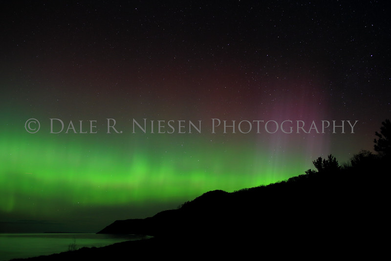 Sleeping Bear Aurora - Taken on May 8, 2016 at 12:58 am looking north toward the Empire Bluffs in the Sleeping Bear Dunes National Lakeshore .
