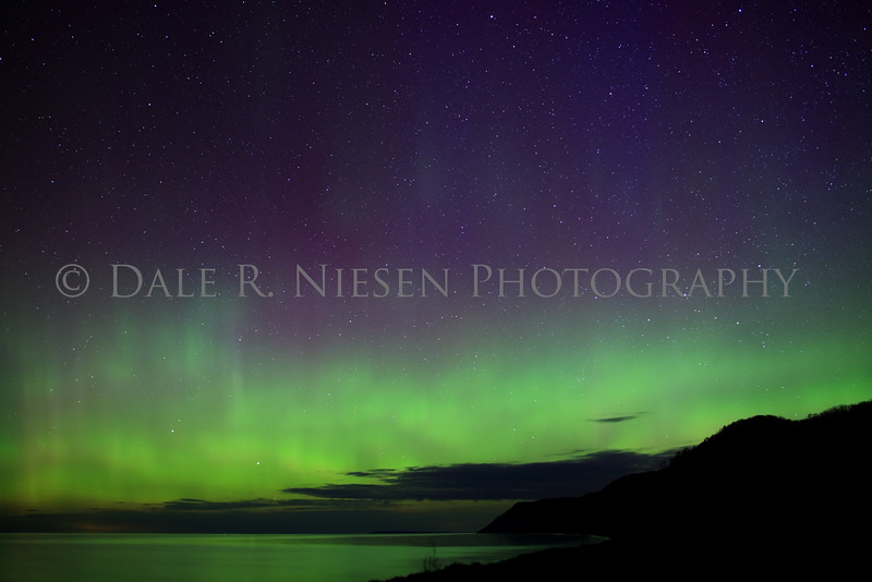 Sleeping Bear Aurora - Taken on May 8, 2016 at 1:25 am looking north toward the Empire Bluffs in the Sleeping Bear Dunes National Lakeshore .