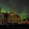 Old Mackinac Point Lighthouse with the northern lights dancing in the sky above taken November 14, 2012, Mackinaw City, Michigan.