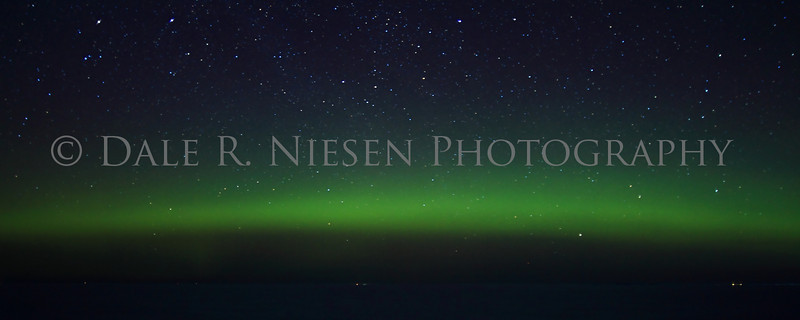 Northern Lights taken on Lake Superior's Whitefish Bay, Chippewa County, Michigan 3/29/2013. Note: Special steps may need to be taken when ordering a panoramic image please review the panoramic print sizes for cropping. However the 11 x 28 and 12 x 30 appear to be perfect fits for the above image without cropping.