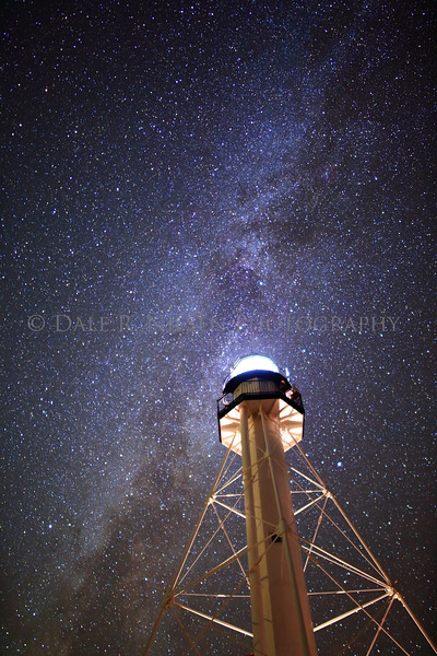 The Milky Way over the light tower at the historic Whitefish Point Lighthouse on Whitefish Bay, Lake Superior near Paradise, Michigan.
