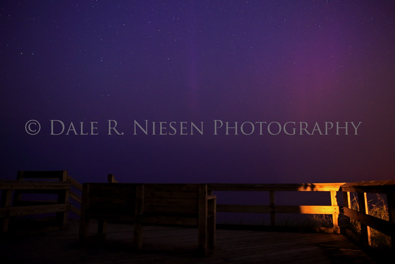 Purple haze from the aurora mixing with a heavy haze over Lake Superior due to wild fires in western Canada.  The Kp was at 4 when this  photo was taken on the night of July 5th-6th at Point Iroquois Lighthouse.