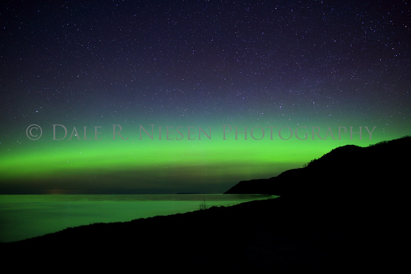 Sleeping Bear Aurora - Taken on May 8, 2016 at 12:22 am looking north toward the Empire Bluffs in the Sleeping Bear Dunes National Lakeshore.