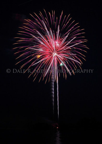 Wyandotte, Michigan 6/25/2010 Independence Day Fireworks Display over the Detroit River.