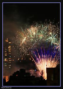 Fireworks at Ramat Gan