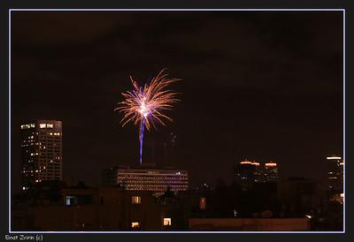 Fireworks over Tel Aviv