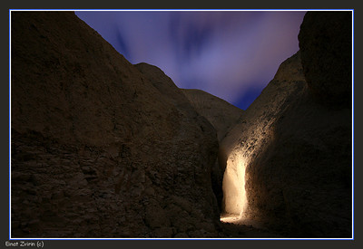 Magic Light Wadi Havarim at Night