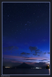 Orion and Volcano, Lake Atitlan, Guatemela