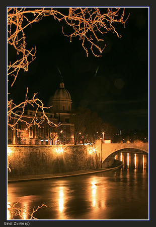 Night on the Tiber Rome