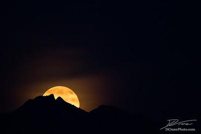 Rising Super Moon Over Lone Peak