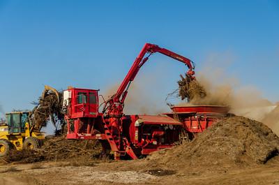 "Grinding the ""burn"" pile 3-9-2012"