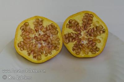 White Pomegranate Cut Open