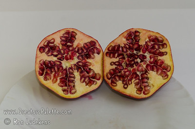 Wonderful Pomegranate - Punica granatum Extra large.  Blushed red skin.  Flesh rich, red color, juicy, with sharp flavor.  Most well known of the pomegranates.  Shrub or tree to 18 ft.  Ripens: October. Drought tolerant.