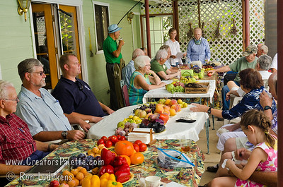 A feast from the garden. Image taken at Walter and Brenda Thoma's home in Porterville, CA which was hosting the local chapter of the California Rare Fruit Growers.