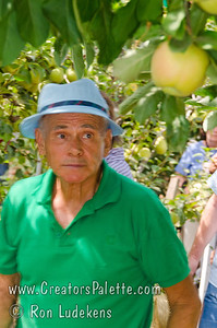 Walter Thoma leading us around his orchards. Image taken at Walter and Brenda Thoma's home in Porterville, CA which was hosting the local chapter of the California Rare Fruit Growers.
