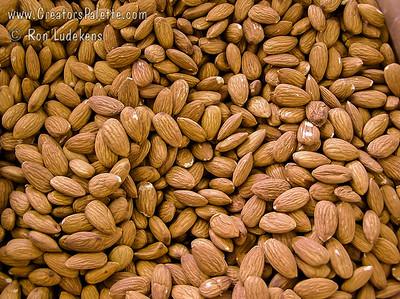 Bulk processed almonds - image taken at Blain Farms, Visalia, CA