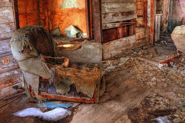 Abandoned Farmhouse Easy Chair