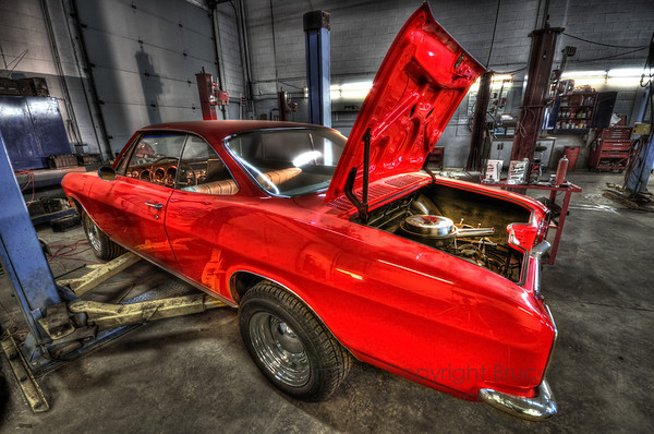A beautiful Red Corvair.<br><br>See my Vehicles gallery for more images.