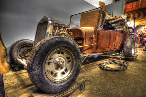 The beginnings of a Ford Hot Rod. <br><br>See my Vehicles gallery for more images.
