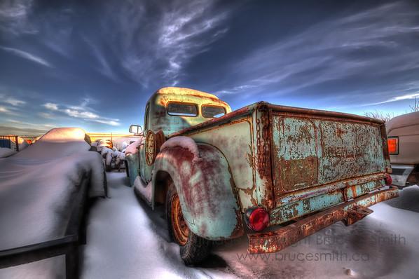 Rusty Old International Truck