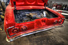 Beautiful Red Corvair Engine Compartment