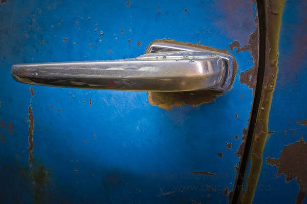 Old truck door handle