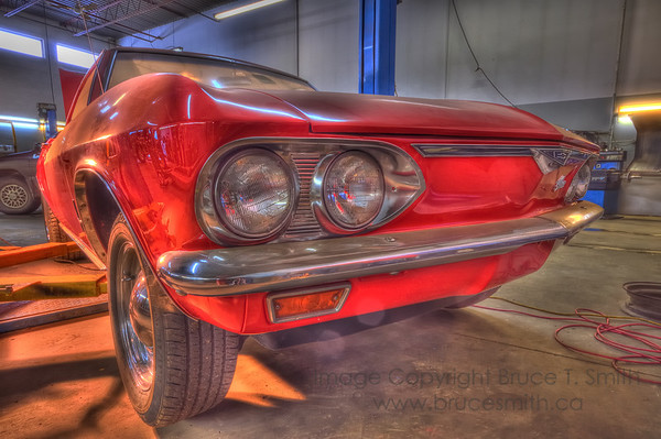 Beautiful Red Corvair Front End