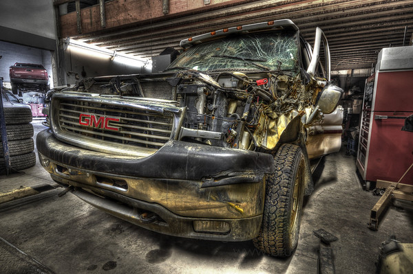 Written-off GMC Truck in HDR